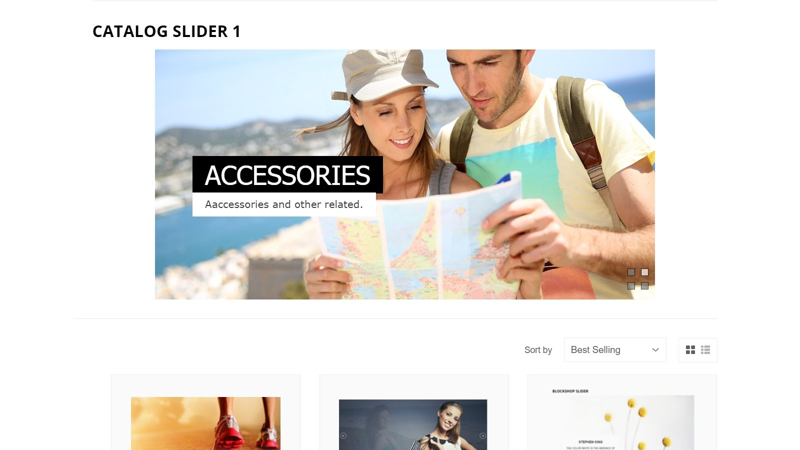 shopify banner slider app by Secomapp - Catalog Slider 1