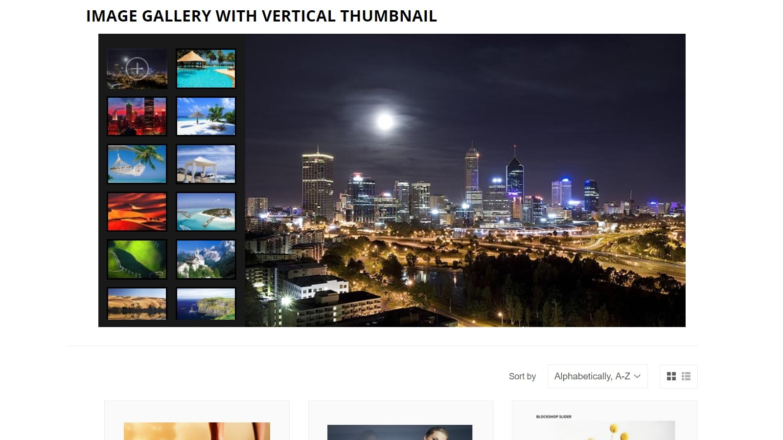 shopify banner slider app by Secomapp- Image Gallery with thumbnail