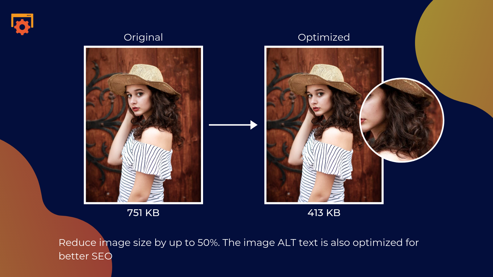 shopify smart image optimizer app by Secomapp - Reduce image size by up to 50%