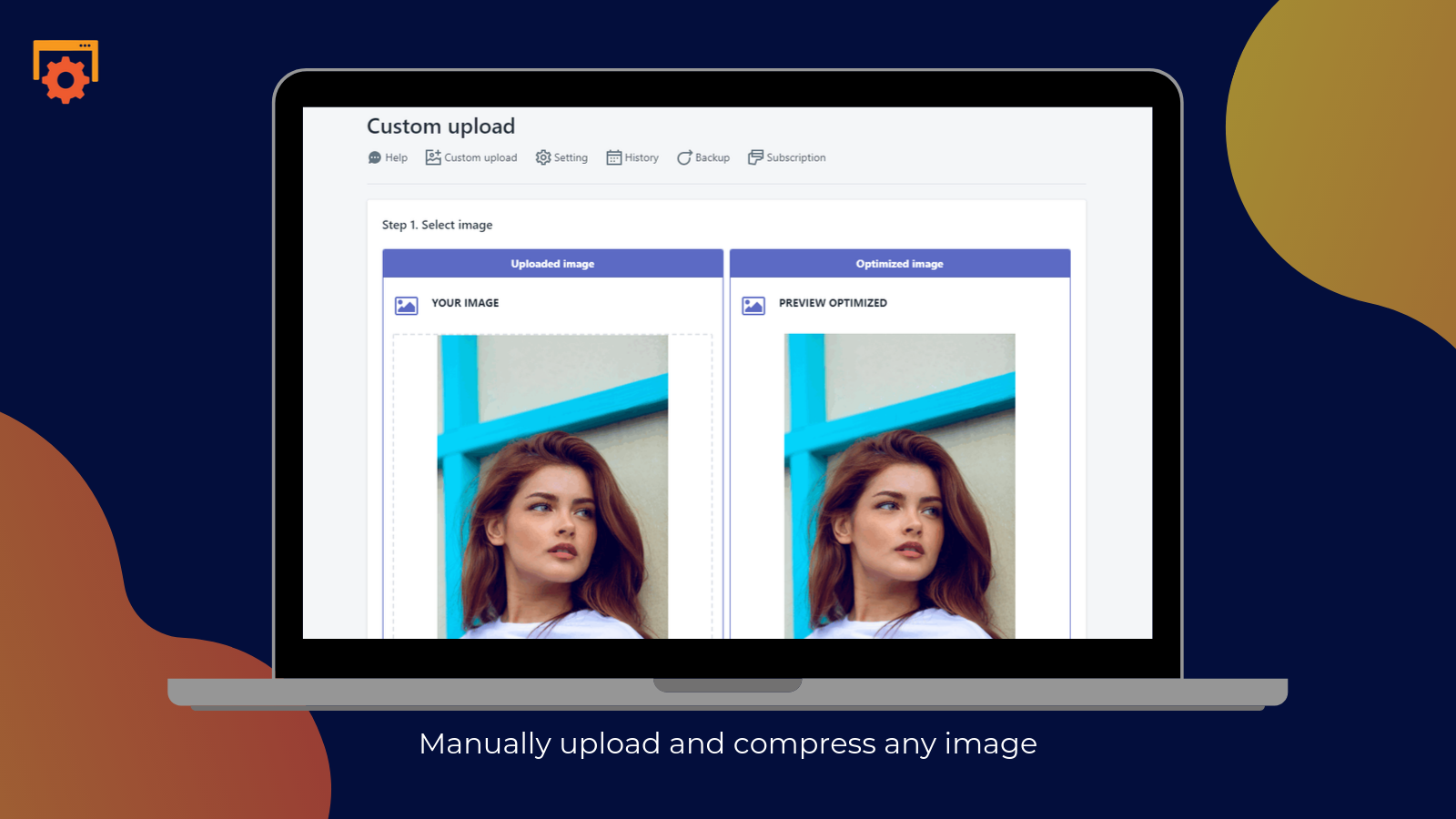 shopify smart image optimizer app by Secomapp - Manually upload and compress any images