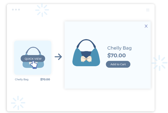shopify quick view app previews product details without reloading