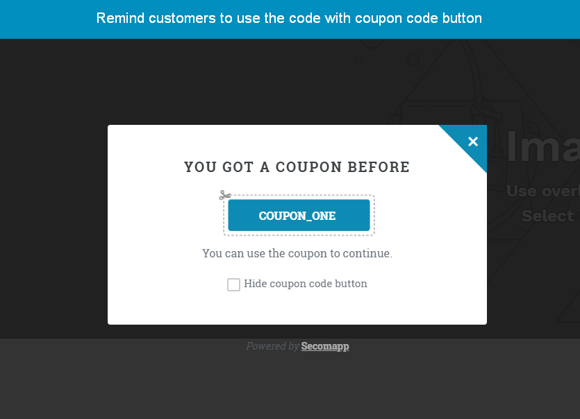 shopify spin to win app by secomapp_remind coupon