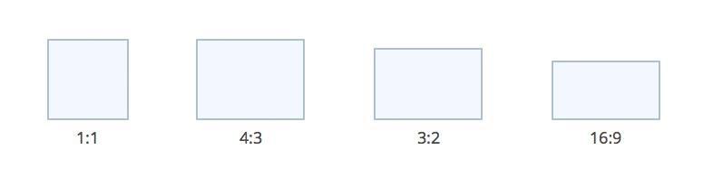 Standard image ratios