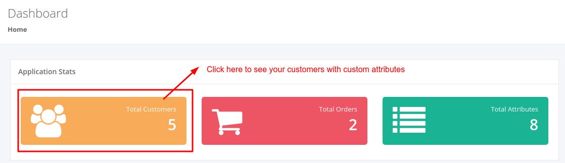 View & export customer info in Customer attribute