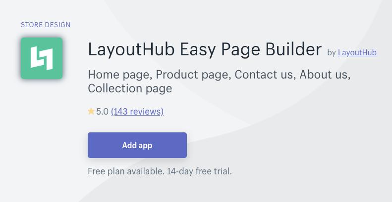 layouthub shopify app